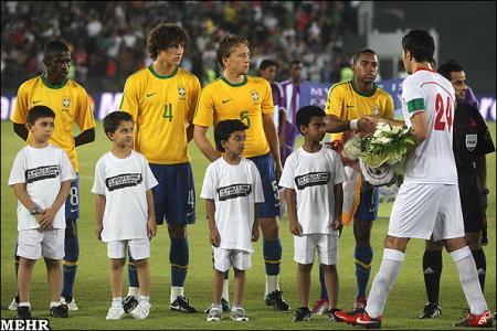 مسابقه دوستانه فوتبال ایران و برزیل 2010