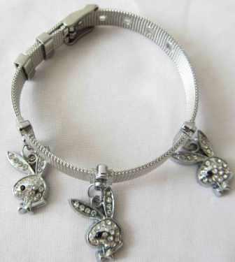 خرید دستبند استیل دخترناه با آویز خرگوش (hc1)