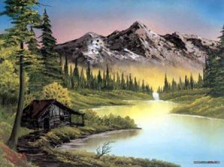 آموزش نقاشی رنگ روغن توسط بزرگترین نقاش دنیا ، استاد باب راس
