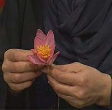 آموزش فارسی  ساخت گل شیشه ای نشکن