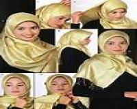 آموزش فارسی بستن شال به سبک عربی و آرایشگری