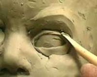 آموزش مجسمه سازی چهره انسان