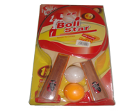 راکت پینگ پنگ BoliStar دو راکته ، همراه با 2 عدد توپ