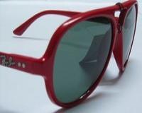 عینک آفتابی ری بن کت  قرمز مدل 4125  (به همراه دستمال ضد خش و کیف هدیه)