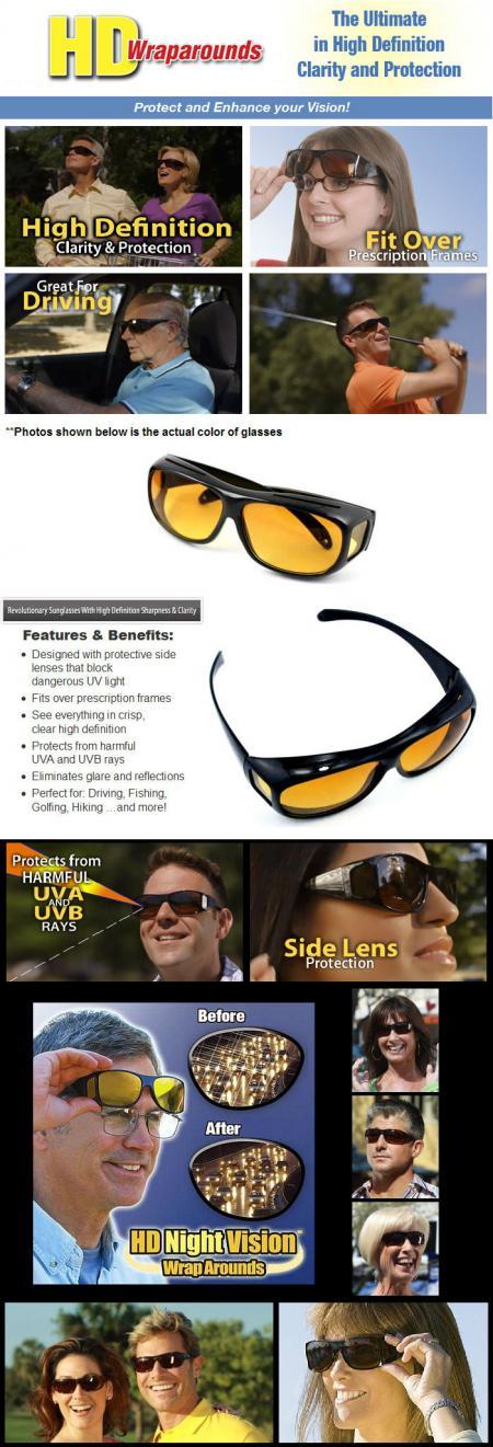خرید عینک دید درشب اچ دی ویژن