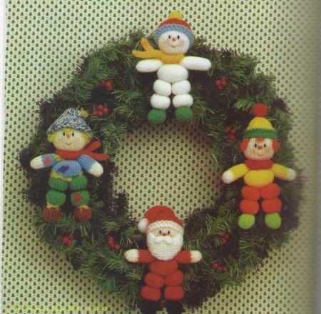 حلقه کریسمس عروسکهای بندبندی