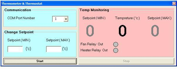 کنترل دما با مانیتورینگ روی کامپیوتر از طریق پورت USB