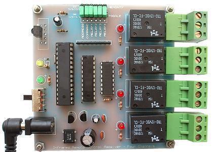 گیرنده کنترل از راه دور 4 وسیله برقی با مادون قرمز مدل 054