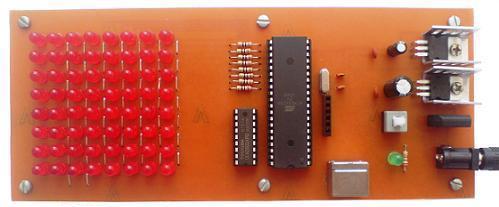 تابلوروان 8*8 با LED، تغییر متن با کیبورد کامپیوتر PS2