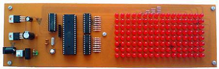 تابلوروان 16*8 با LED، تغییر متن با کیبورد کامپیوتر PS2