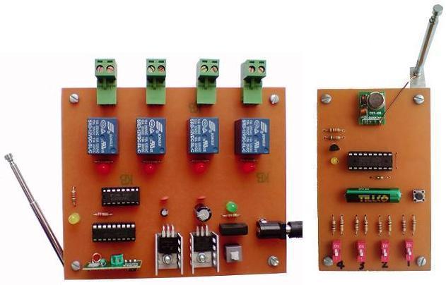 کنترل از راه دور 4 وسیله برقی با فرستنده رادیویی