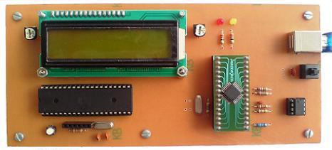 تایپ روی نمایشگر LCD با کامپیوتر از طریق پورت USB