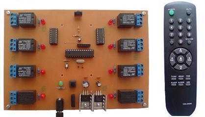 کنترل از راه دور 8 وسیله برقی با فرستنده مادون قرمز