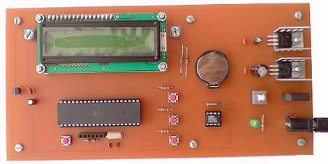 ساعت و تقویم با نمایشگر LCD کاراکتری (DS1307)