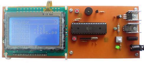 ماشین حساب و دماسنج با نمایشگر LCD گرافیکی و تاچ اسکرین