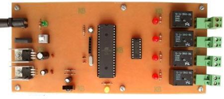 کنترل از راه دور 4 وسیله برقی با فرستنده مادون قرمز