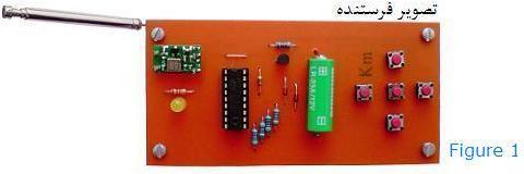 کنترل بی سیم DC موتور با فرستنده رادیویی