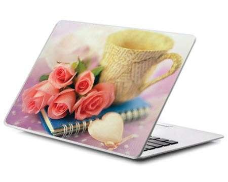 پوسته لپ تاپ مدل گل رز و قلب
