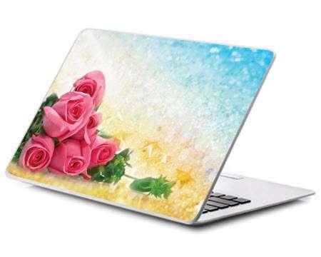 پوسته لپ تاپ مدل دسته گل زیبا