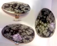 توضيحات انگشتر سنگ معدنی و تراش ابسیدین لکه برفی