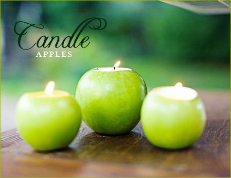 شمع طرح سیب بزرگ Apple-candle-holders